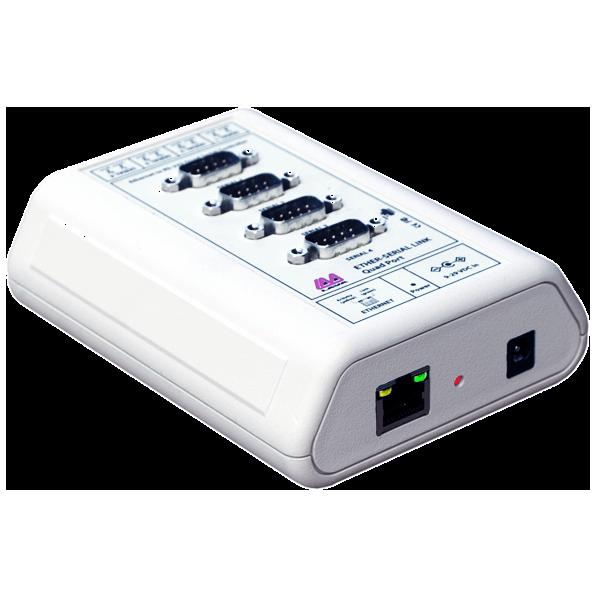 4 Port Ethernet-to-Serial Device Server