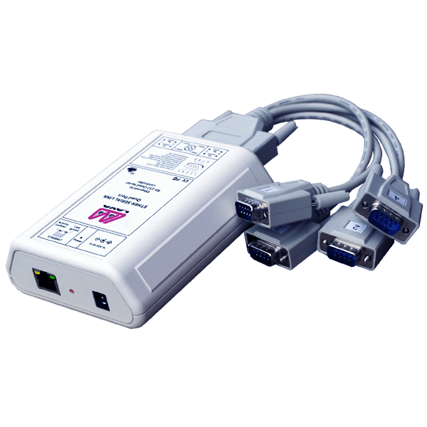 Quad Ethernet-to-serial remote port
