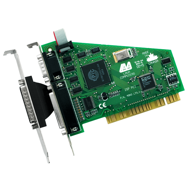Combination Two Port Serial (16550 UART) and One Port Parallel PCI (Enhanced Parallel Port)