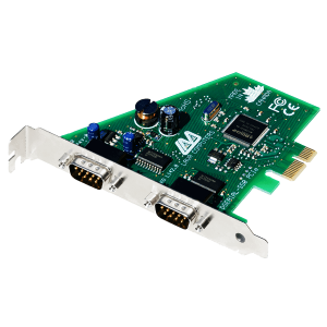 2-Port Serial Card (PCIe Bus 16550)