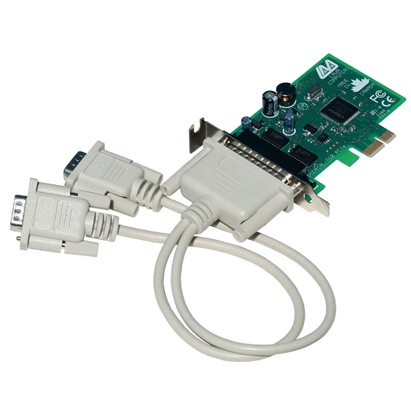 2-Port Low Profile Serial Card (PCIe Bus 16550)