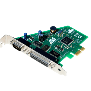 Combination Serial & Parallel PCIe Card