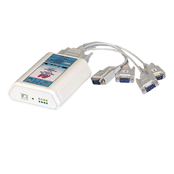 Four-Port USB-to-serial cabled interface